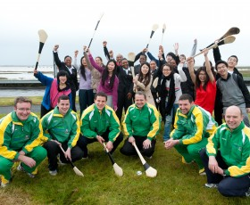 Go Gaelic and Special Guests visit Shannon College of Hotel Management